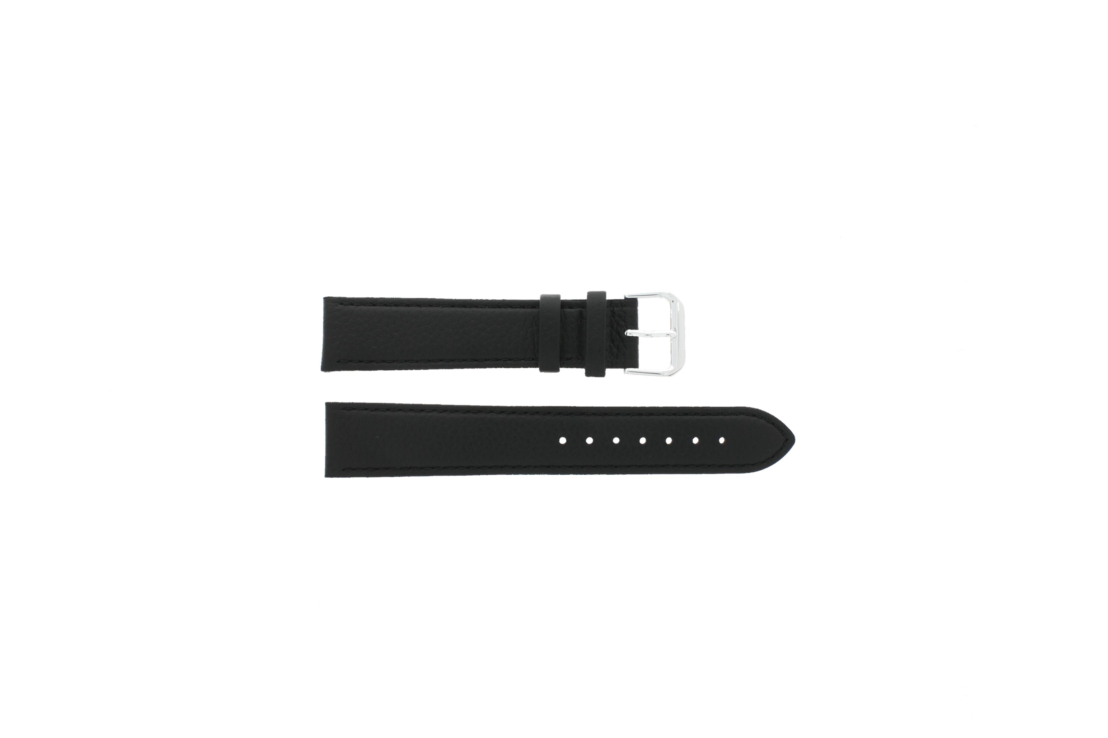 Horlogeband Leder 20mm Zwart PVK 054.01