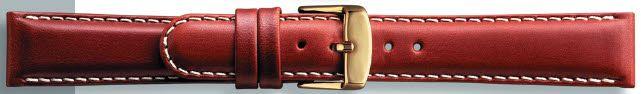 Kwaliteits lederen band licht bruin met wit stiksel 20mm PVK-147
