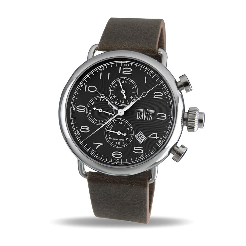 Davis 19301930 Analoog Heren Quartz horloge