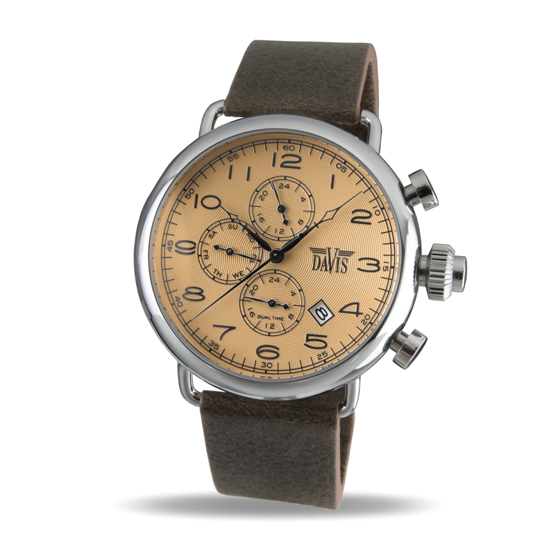 Davis 1932 Analoog Heren Quartz horloge