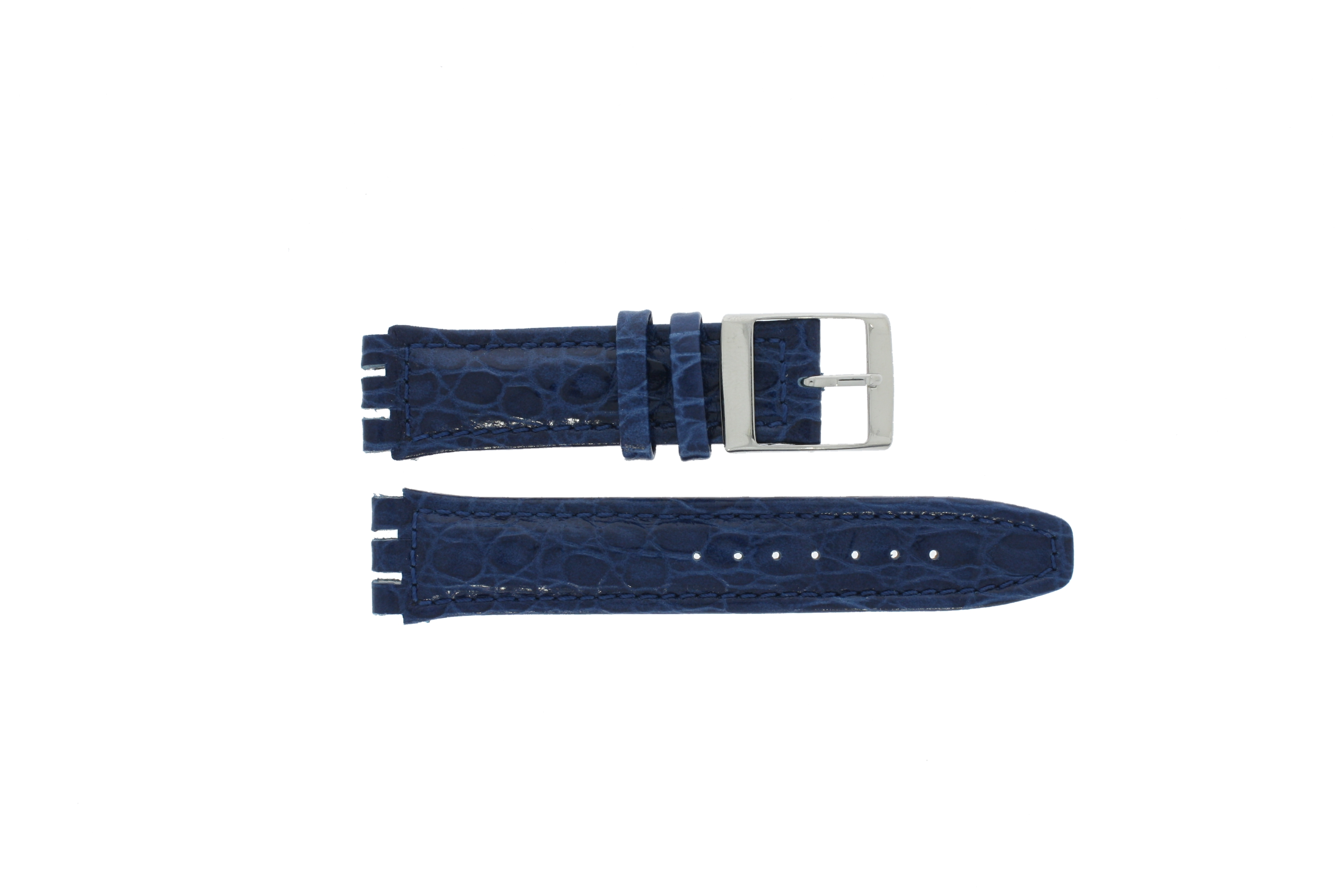 Band passend aan Swatch donker blauw 19mm 11M