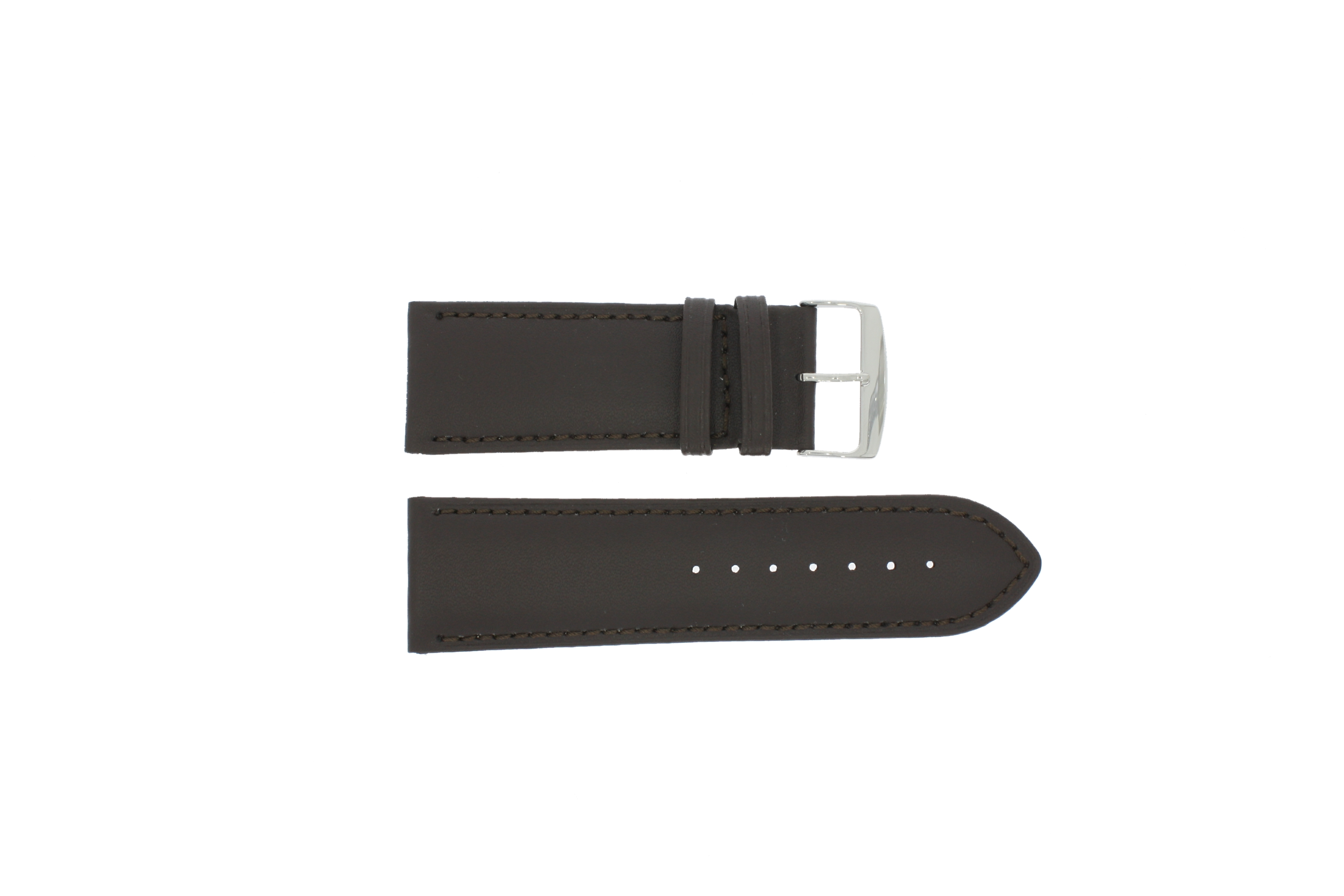 Horlogeband 306.02 Leder Bruin 32mm + standaard stiksel