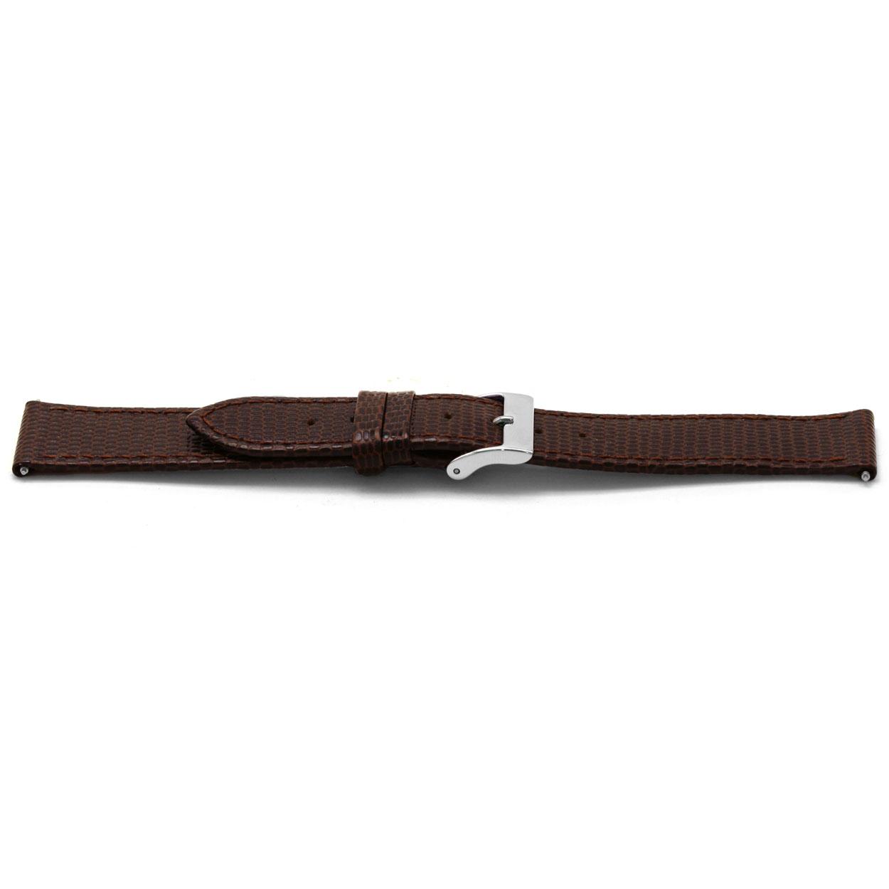 Horlogeband leder bruin 16mm EX-E333