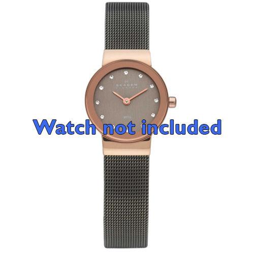 Skagen horlogeband 358XSRM Staal Zwart 12mm
