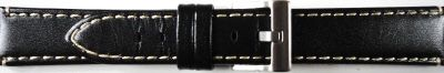 Horlogeband 373.01 / U-Boat B53-08 / LIO46M Leder Zwart 24mm
