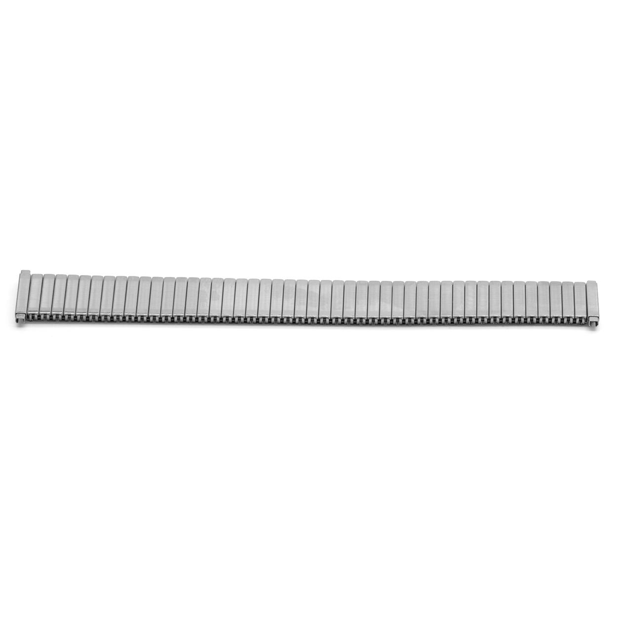 Horlogeband 383116 Fixoflex ROWI Staal Zilver 20mm