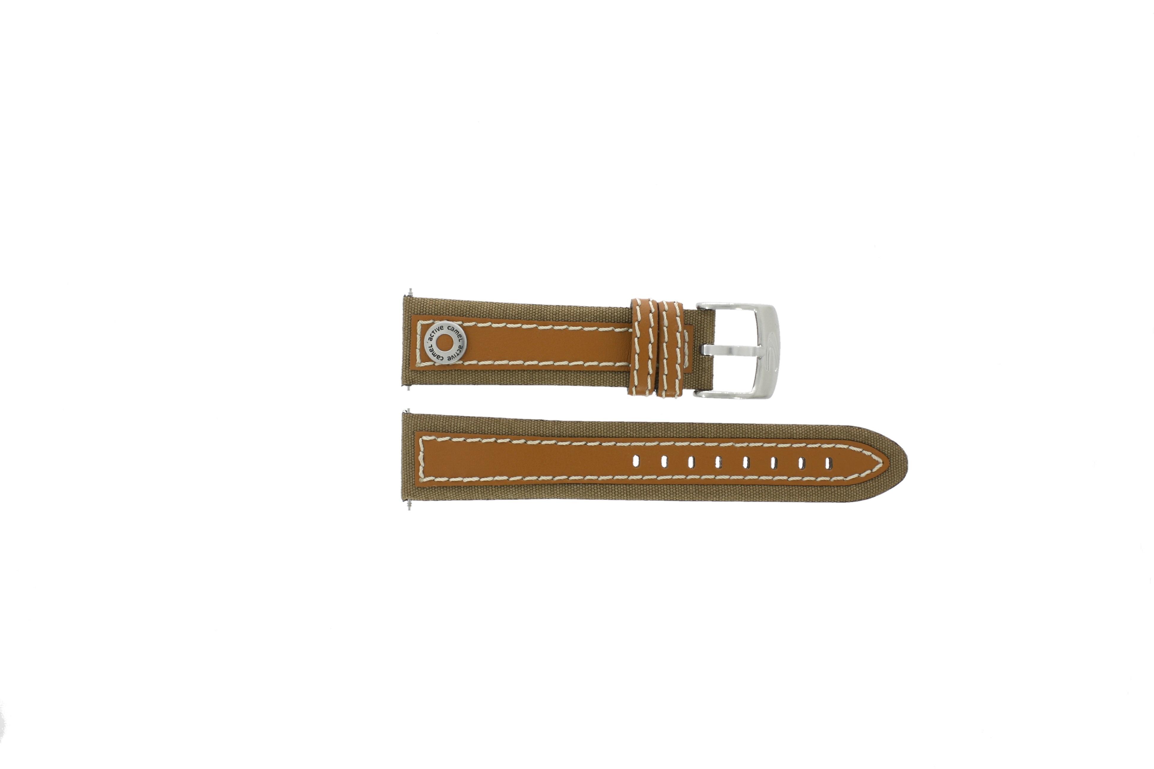 Camel horlogeband 3120-3129 / 3520-3529 Leder Bruin 22mm + bruin stiksel