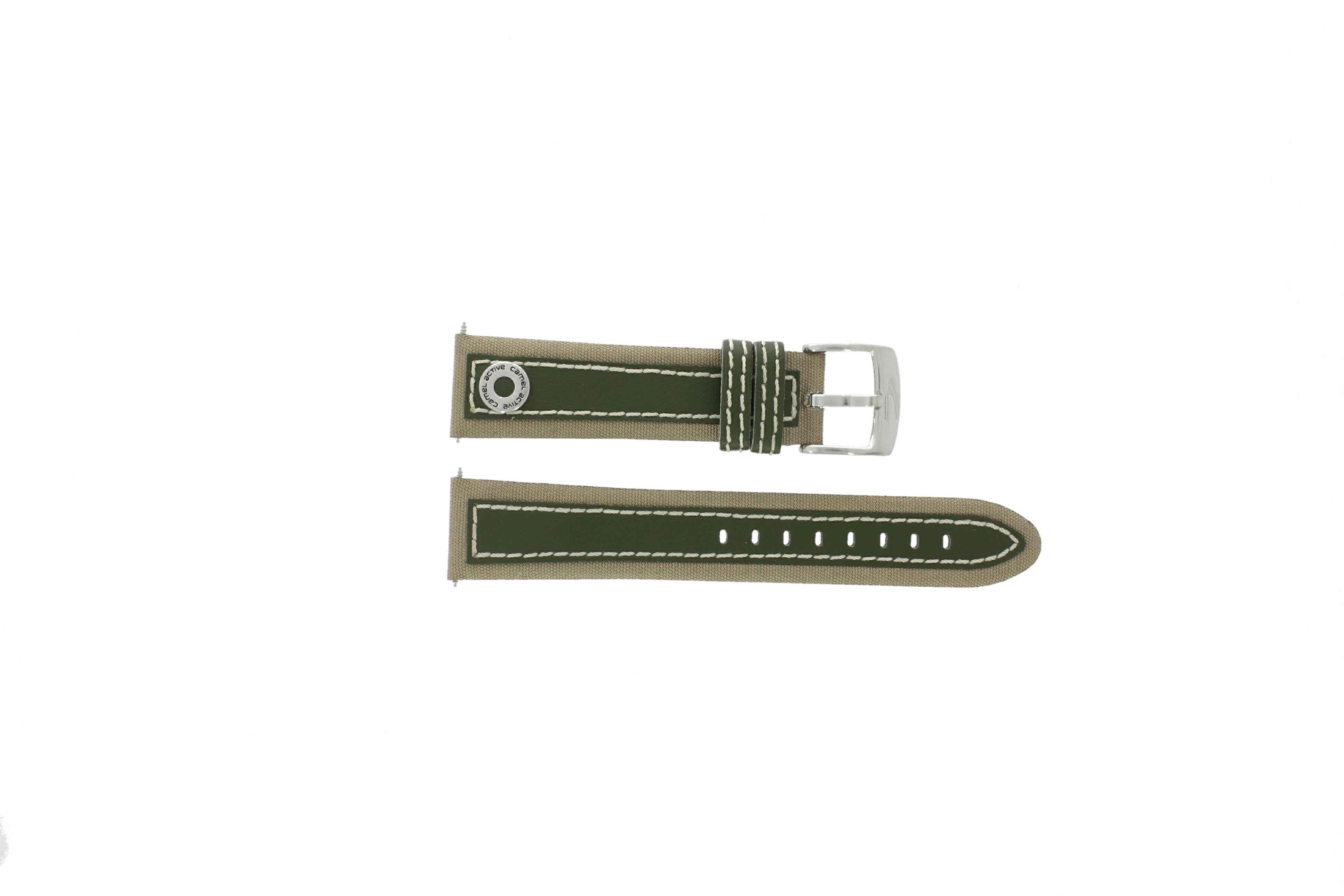 Camel horlogeband 3120-3129 / 3520-3529 Leder Lichtbruin 22mm + wit stiksel