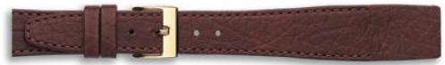 Klep horlogeband bruin leer 16mm