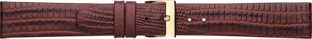 Horlogeband 611.02.20 Lizard Grain Leder Bruin 20mm