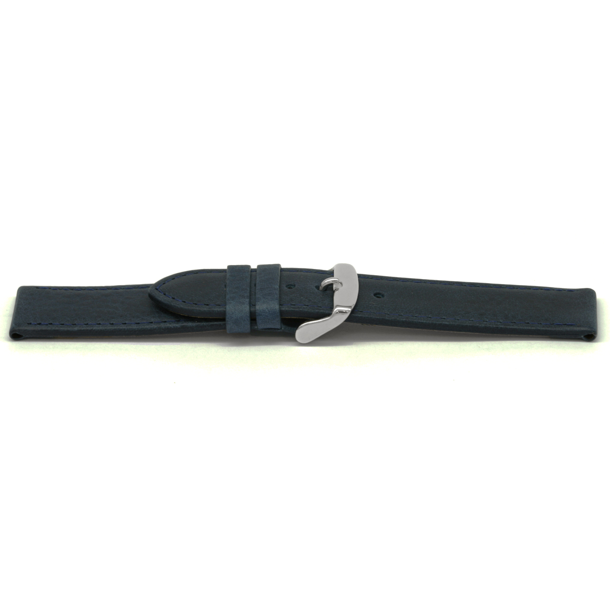 Horlogeband leder blauw 14mm EX-D629