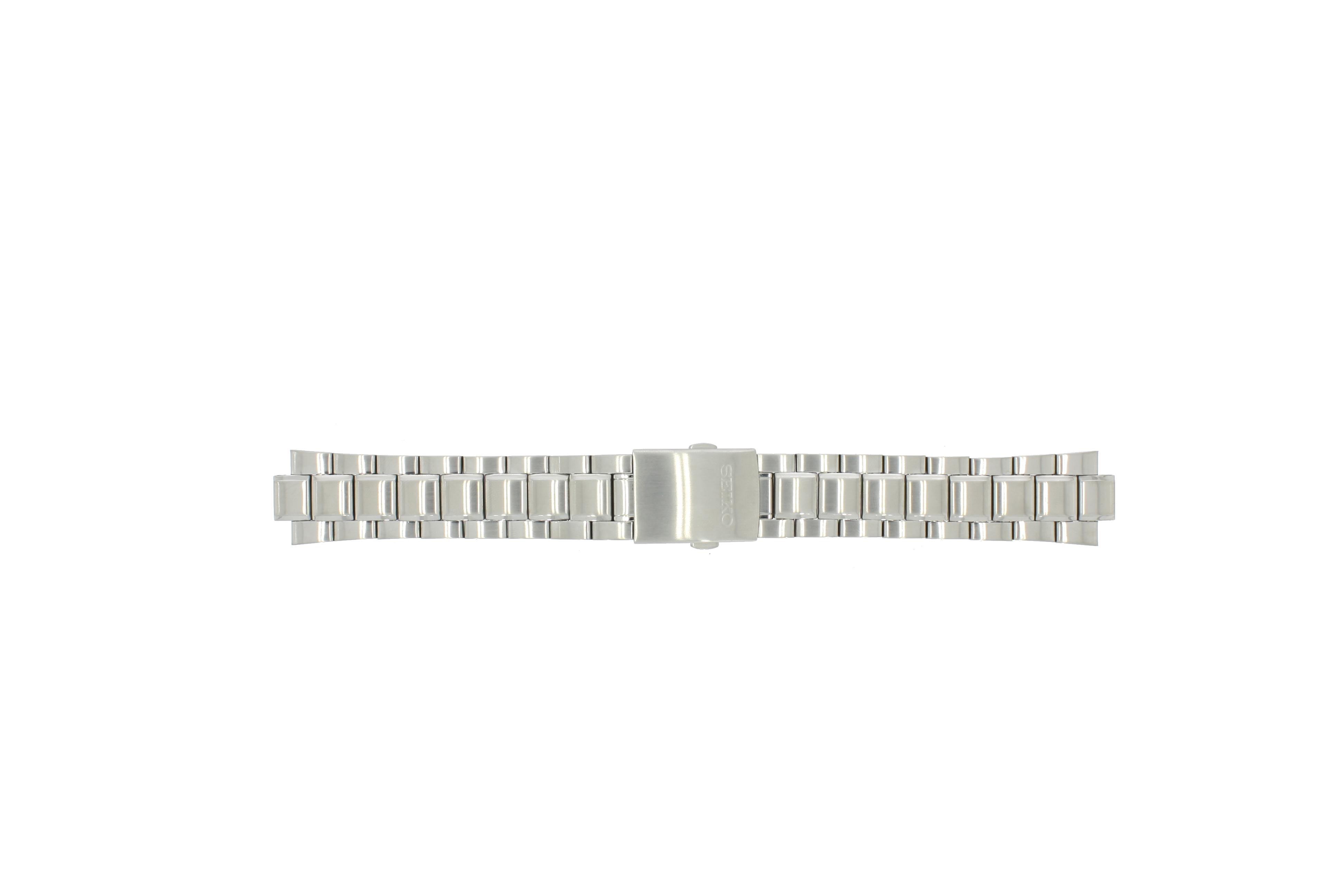 Seiko horlogeband 7T62-0HW0 Staal Zilver 21mm