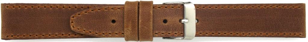 Horlogeband 815.03.18 Leder Bruin 18mm + bruin stiksel