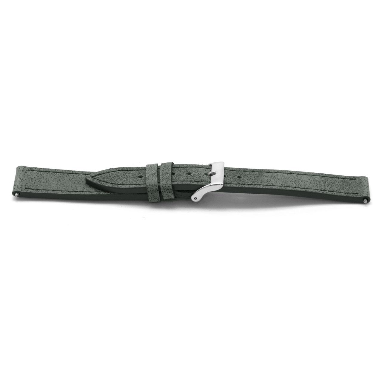 Horlogeband leder grijs 14mm EX-D817