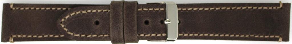 Horlogeband 819.02.26 Leder Donkerbruin 26mm + standaard stiksel
