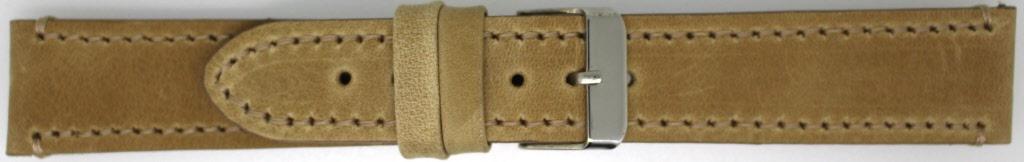 Horlogeband 819.08.22 Leder Bruin 22mm + standaard stiksel