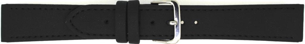 Horlogeband 823.01.12 Leder Zwart 12mm + zwart stiksel