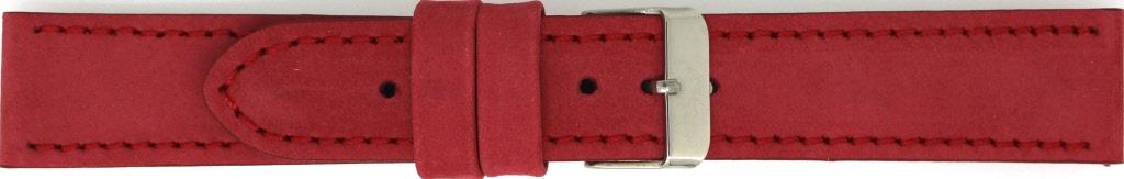 Horlogeband 825.06.20 Leder Rood 20mm + rood stiksel