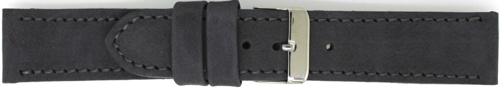 Horlogeband 825.07.18 Leder Grijs 18mm + grijs stiksel