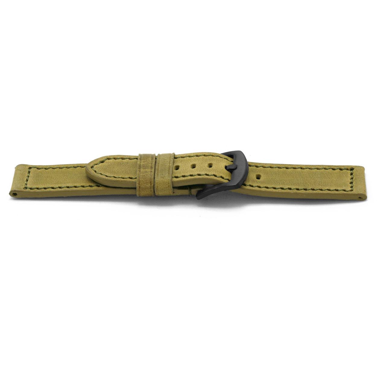 Horlogeband leder 22mm EX-H828
