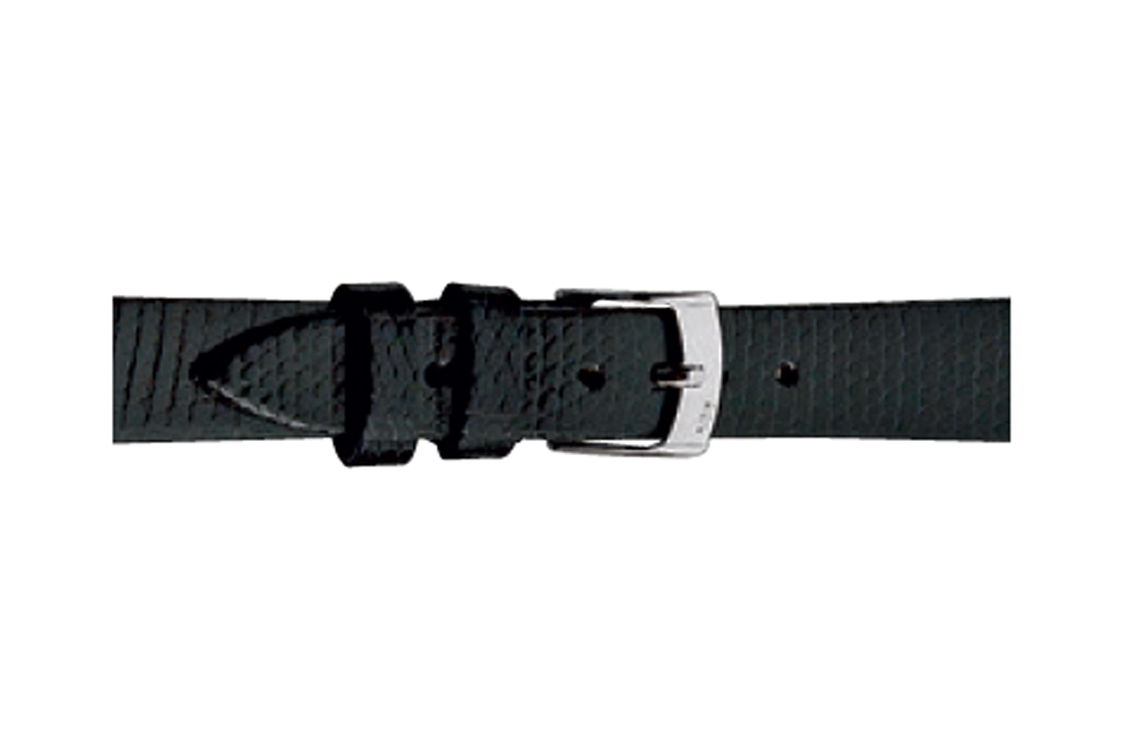 Morellato horlogeband Livorno D0116372019CR08 / PMD019LIVORL08 Hagedissenleer Zwart 8mm