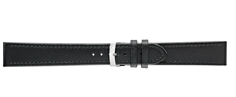 Morellato horlogeband Basket XL K3151237019CR22 / PMK019BASKET22 Glad leder Zwart 22mm + standaard stiksel