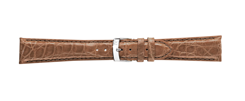 Morellato horlogeband Amadeus G.Croc Glans U0518052029CR22 / PMU029AMADEC22 Krokodillenleer Bruin 22mm + standaard stiksel