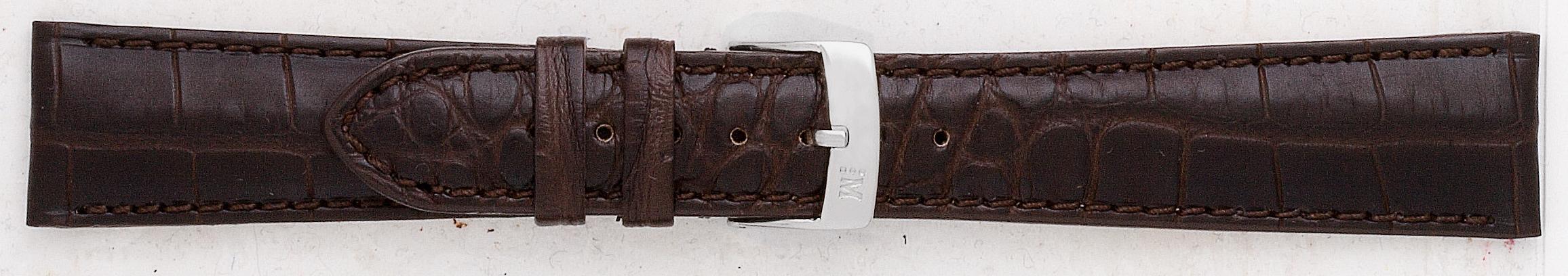 Morellato horlogeband Amadeus G.Croc Mat U0518339030CR22 / PMU030AMADEA22 Krokodillenleer Donkerbruin 22mm + standaard stiksel