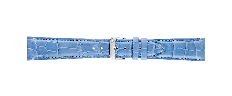 Morellato horlogeband Amadeus G.Croc Mat U0518339266CR22 / PMU266AMADEA22 Krokodillenleer Blauw 22mm + standaard stiksel