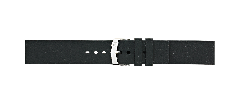 Morellato horlogeband Smooth U2571187019CR22 / PMU019SMOOTH22 Rubber Zwart 22mm