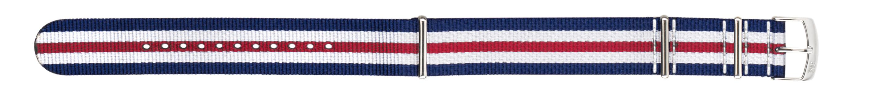 Morellato horlogeband Band U3972A74883CR22 / PMU883BAND22 Nylon / perlon Blauw 22mm + standaard stiksel