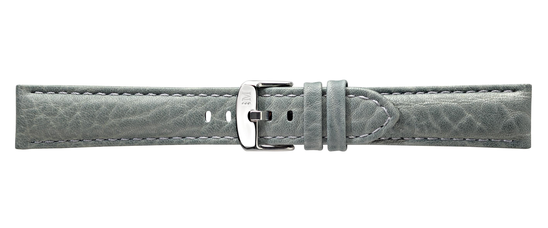 Morellato horlogeband Racing U4206B07092CR22 / PMU092RACING22 Leder Grijs 22mm + wit stiksel