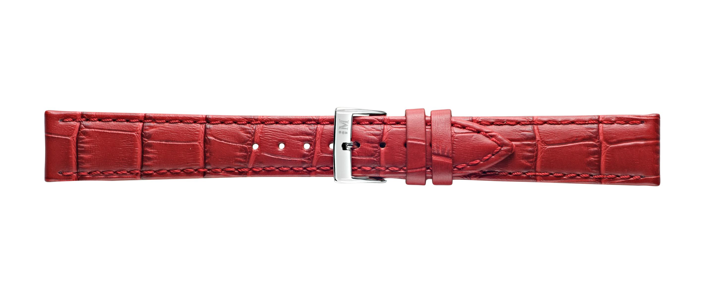 Morellato horlogeband Bolle X2269480183CR22 / PMX183BOLLE22 Croco leder Rood 22mm + standaard stiksel