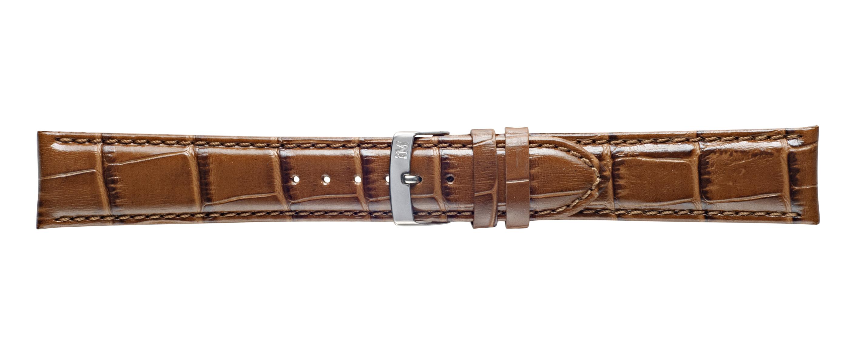 Morellato horlogeband Samba X2704656045CR22 / PMX045SAMBA22 Croco leder Bruin 22mm + standaard stiksel