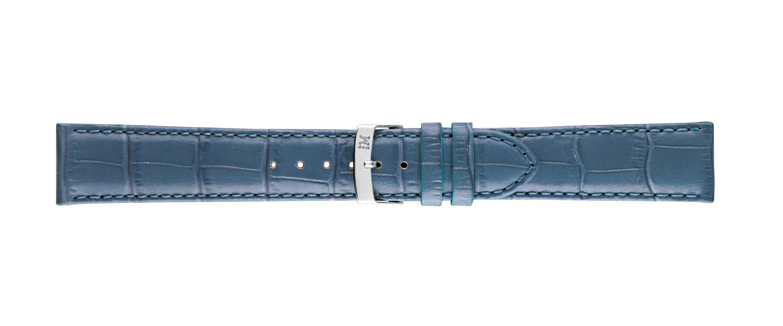 Morellato horlogeband Samba X2704656065CR22 / PMX065SAMBA22 Croco leder Blauw 22mm + standaard stiksel
