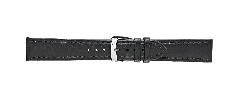 Morellato horlogeband Anallergico X3603087019CR20 / PMX019ALLERG20 Leder Zwart 20mm + standaard stiksel