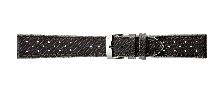Morellato horlogeband Drive Gommatex Cuir X4337797032CR22 / PMX032DRIVE22 Leder Donkerbruin 22mm + standaard stiksel