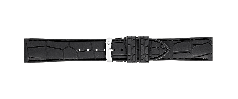 Morellato horlogeband Cocco-Rubber X4512187819CR22 / PMX819CRORUB22 Rubber Zwart 22mm