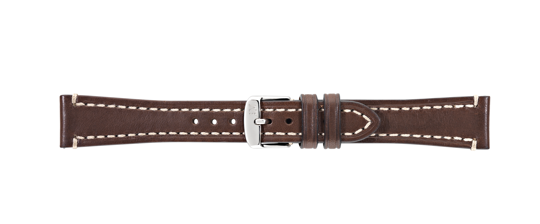 Morellato horlogeband Raffaelo X4539B51032CR22 / PMX032RAFFA22 Glad leder Donkerbruin 22mm + wit stiksel