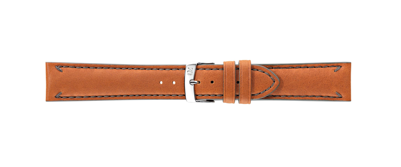 Morellato horlogeband Fontana X4540A61044CR22 / PMX044FONTA22 Glad leder Bruin 22mm + standaard stiksel
