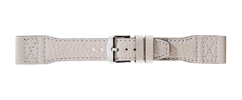 Morellato horlogeband Yoga X4615278092CR22 / PMX092YOGA22 Glad leder Grijs 22mm + standaard stiksel
