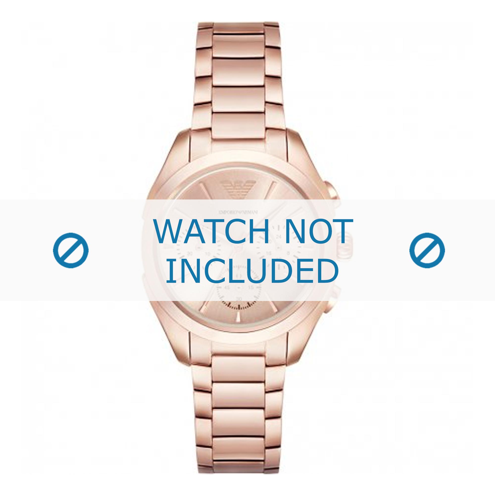 Armani horlogeband AR11051 Staal Rosé 18mm