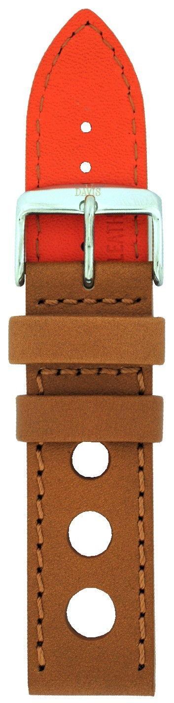 Davis horlogeband met stansgaten 22mm B0321