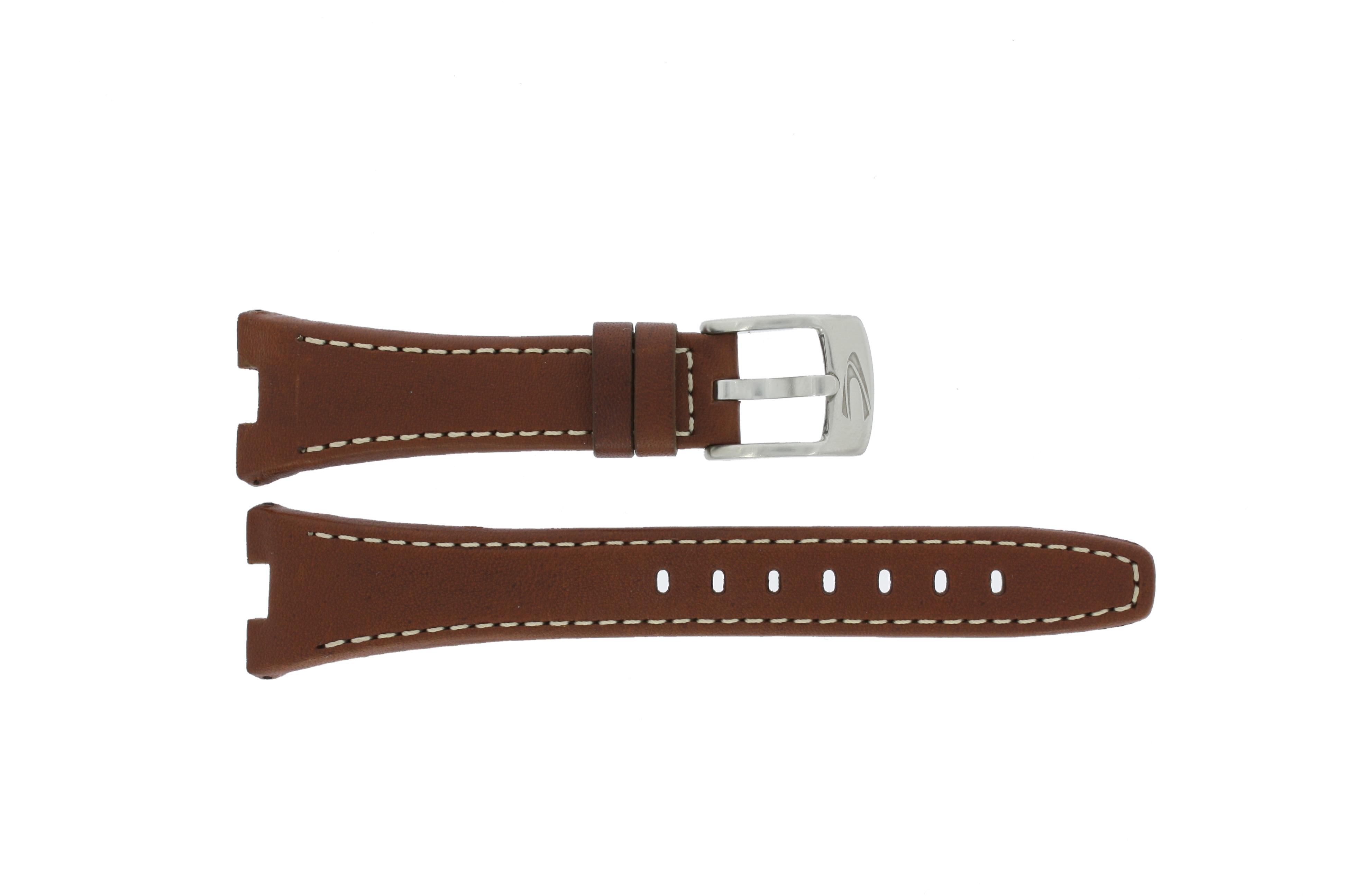Camel horlogeband BC50945 Leder Bruin 22mm + wit stiksel