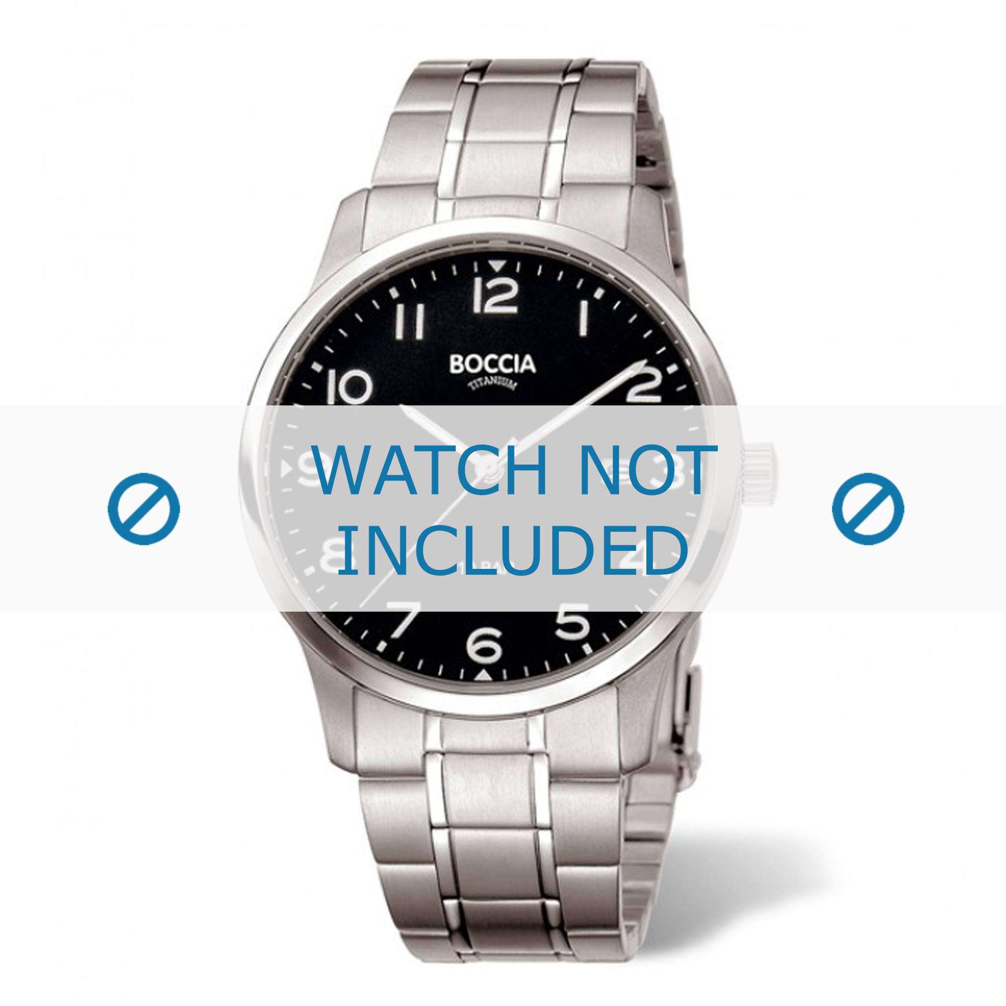 Boccia horlogeband 3596-01 Titanium Zilver 23mm