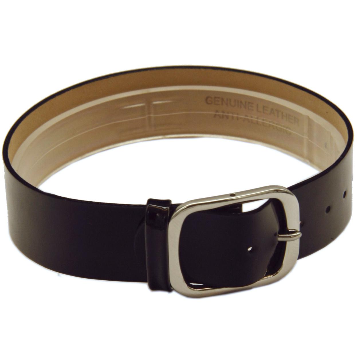 Leder horlogeband een geheel 16mm zwart glans CCC.1051
