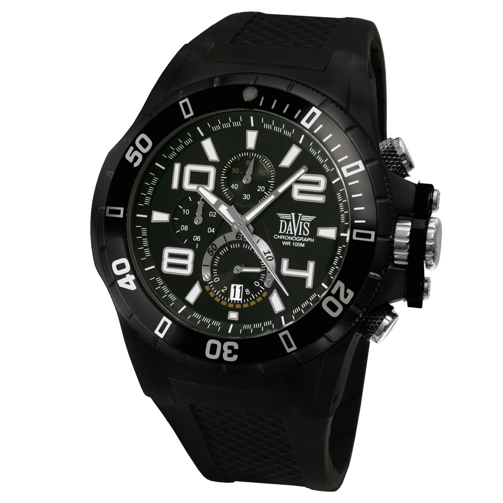 Davis 1632 Analoog Heren Quartz horloge