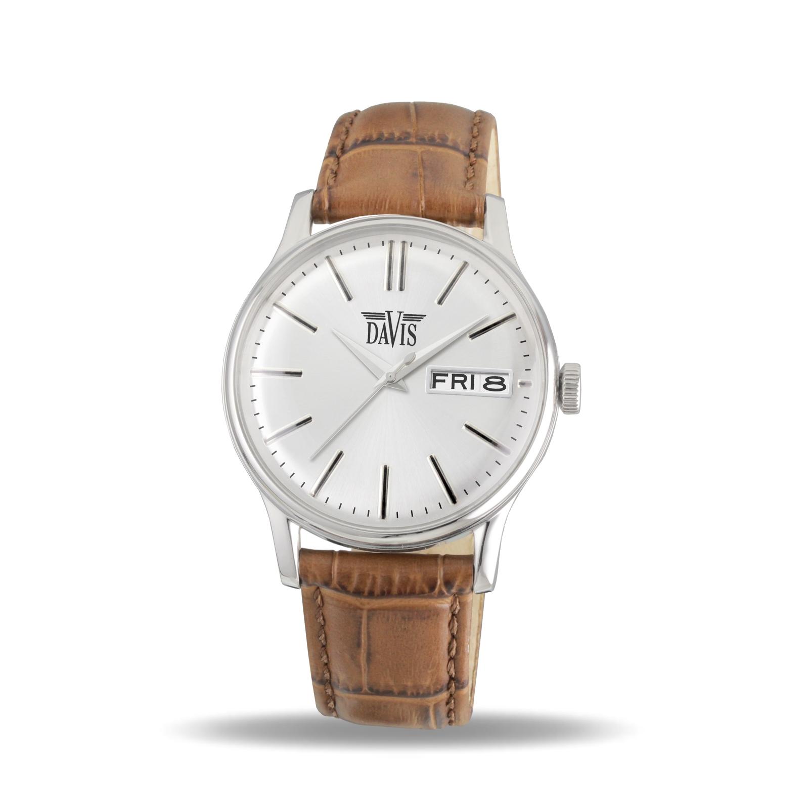 Davis 2090 Analoog Heren Quartz horloge