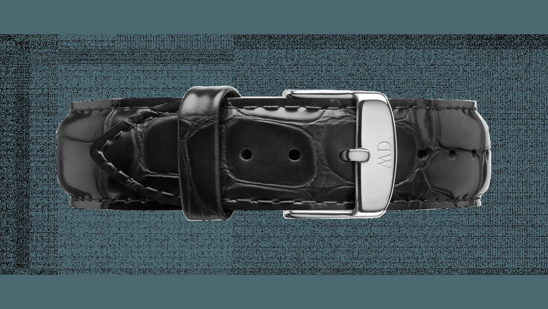Daniel Wellington horlogeband DW00200028 Classic Reading Leder Zwart 20mm + standaard stiksel
