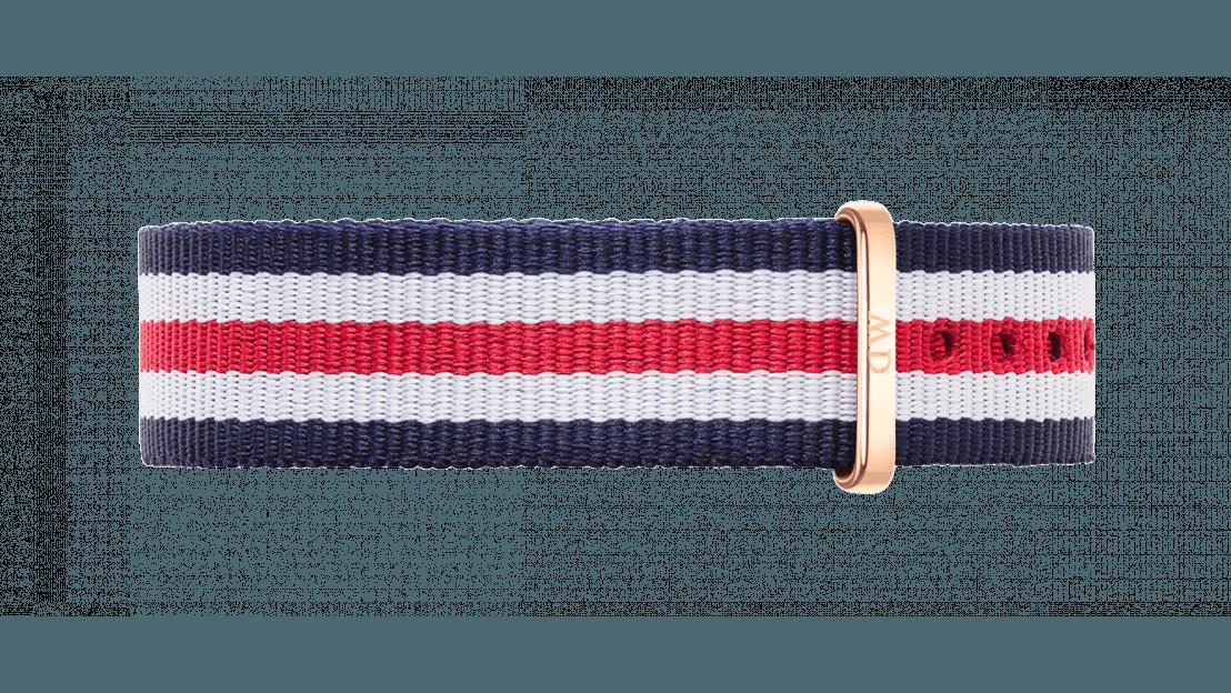 Daniel Wellington horlogeband DW00200030 Classic Canterbury Textiel Multicolor 18mm